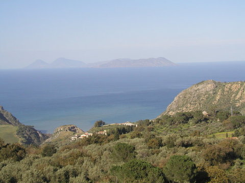 Vista delle isole Eolie