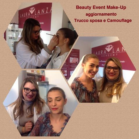 BEAUTY EVENT MAKE UP AGGIORNAMENTO TRUCCO SPOSA E CAMOUFLAGE