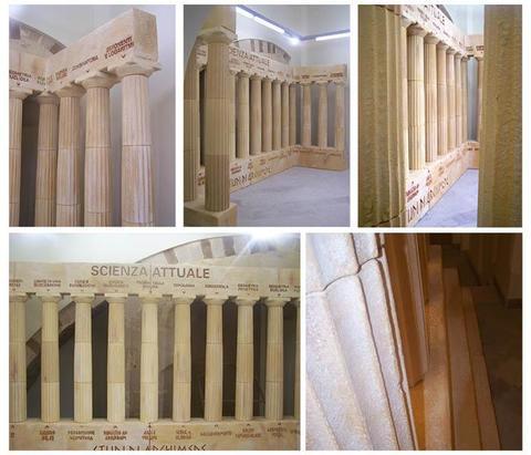Travi i in polistirolo in finto legno a catania e sicilia for Scenografie in polistirolo
