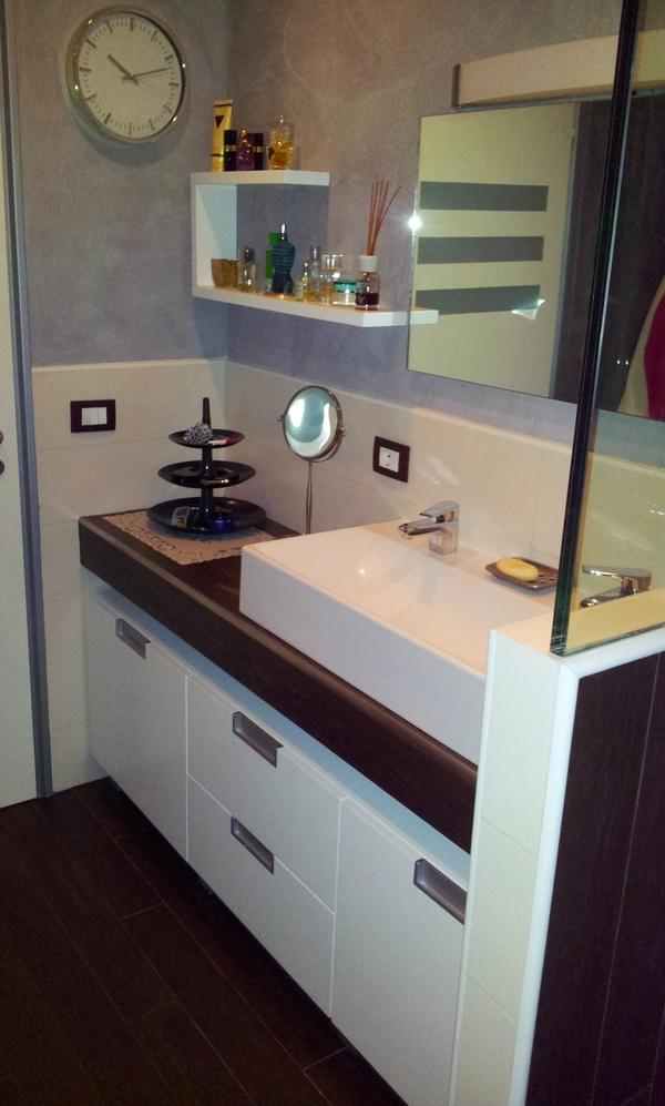 Mobile bagno chiaramonte ragusa sicilia mobilificio - Mobile bagno bianco laccato ...