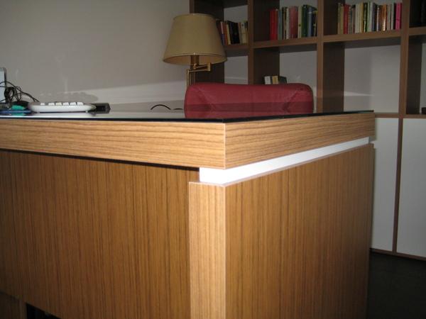 Arredamento ufficio chiaramonte ragusa sicilia mobilificio casmene teak e bianco opaco - Mobilificio vittoria ...