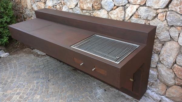 Barbecue in lamiera corten alcamo trapani for Lamiera corten prezzo
