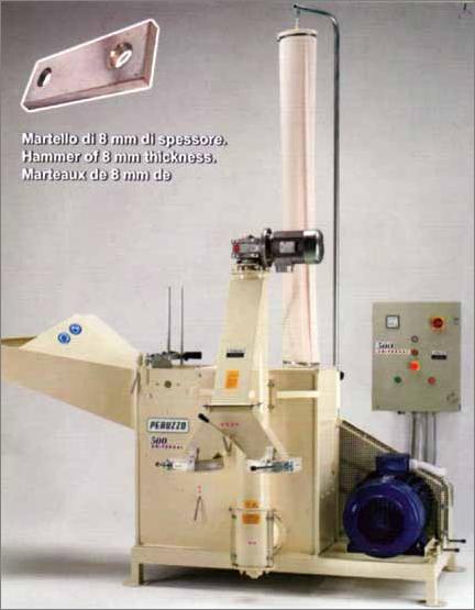 Molino a martelli con estrazione farine a coclea motore for Vetroresina ondulata prezzo