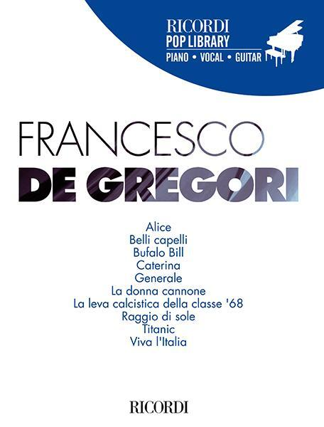 Collana Ricordi Pop Library FRANCESCO DE GREGORI