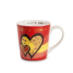 Tazza mug in porcellana ml 350 Egan That's amore