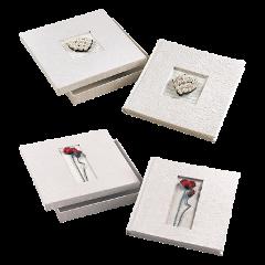 Album per foto in cartoncino con velina  Mascagni  Fiori