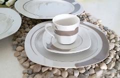 Servizio 6pz caffè in porcellana decorata  Villa Altachiara  DAKAR