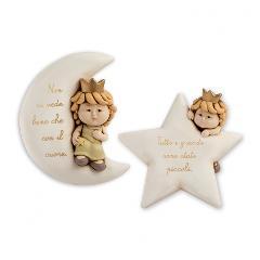 Targa in ceramica decorata con scritta  Egan I PICCOLI PRINCIPI