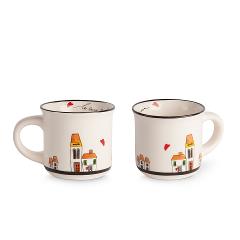 Set 2 tazze caffè in ceramica decorata Egan LE CASETTE