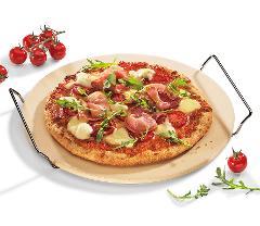 Pietra refrattaria per pizza con supporto inox Kuchenprofi BBQ