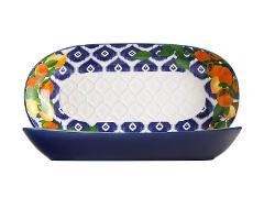 Coppa oblunga in ceramica decorata  Maxwell&Williams POSITANO