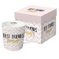 Tazza Mug in porcellana New Bone China decorata ppd BEST FRIENDS FOREVER