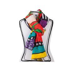 Pashmina in cotone decorato Egan LE PUPAZZE