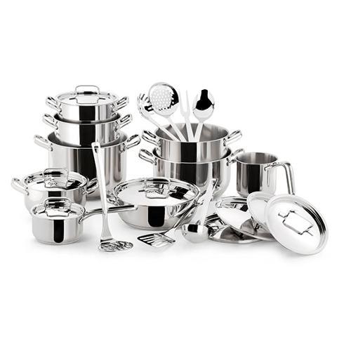 Set 24 pz batteria di pentole in acciaio inox 18/10 Lagostina  Sfiziosa