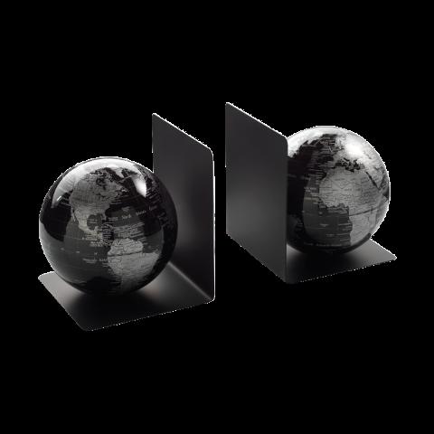 Coppia fermalibri con globi magnetici  Mascagni  Atlante e Kronos