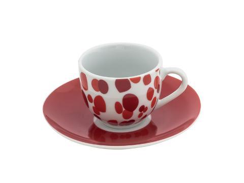Servizio 6pz caffè in porcellana decorata  Villa Altachiara  POIS
