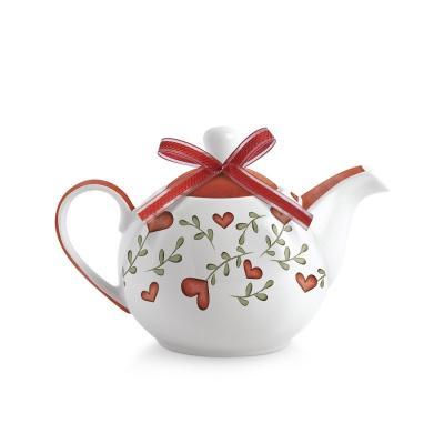 Teiera in porcellana decorata  Egan TEA FOR TWO