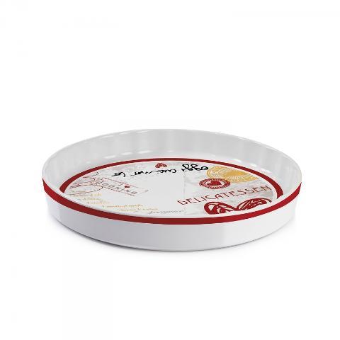 Tortiera rotonda in porcellana da forno decorata  Egan SALE E PEPE