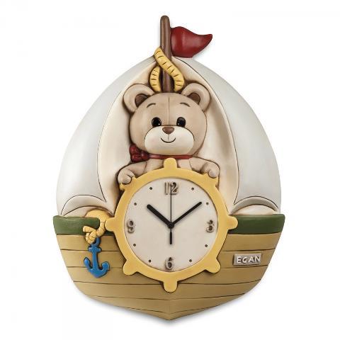 Orologio veliero in ceramica decorata  Egan IL MONDO DI OLIVER