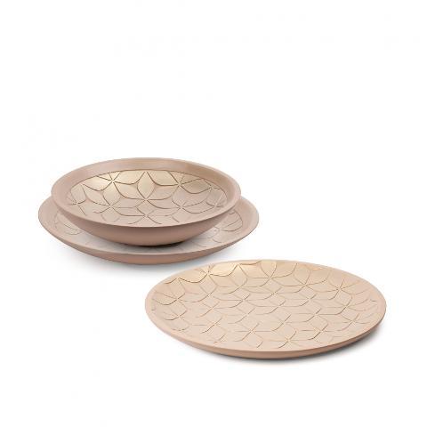 Centrotavola in ceramica decorata  Egan CAPITONNE'