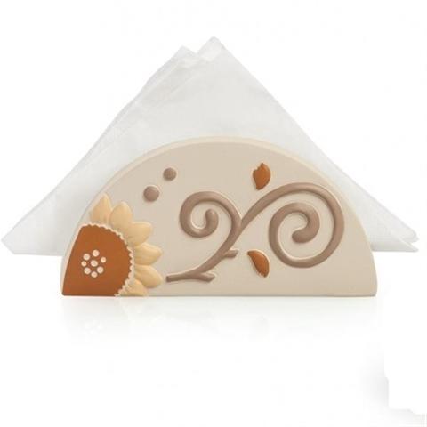 Portatovaglioli in ceramica decorata Egan HELIOS