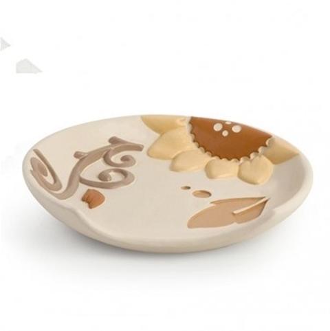 Poggiamestolo in ceramica decorata Egan HELIOS