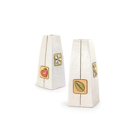 Vaso in ceramica decorata  Egan SIMBOLI