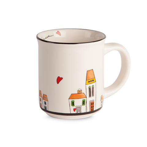 Set 2 tazze mug in ceramica decorata Egan LE CASETTE