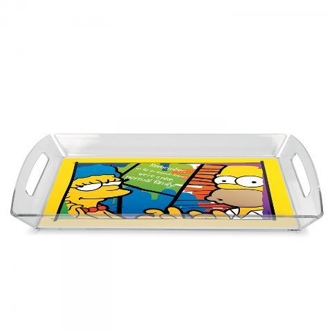 Vassoio in plexiglass con tovaglietta plastificata  Egan THE SIMPSONS