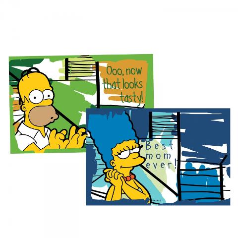 Set 2 tovagliette plastificate  Egan THE SIMPSONS