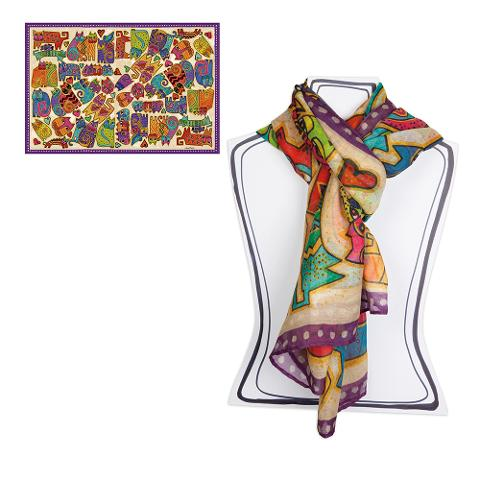 Pashmina in cotone decorata Egan LAUREL BURCH
