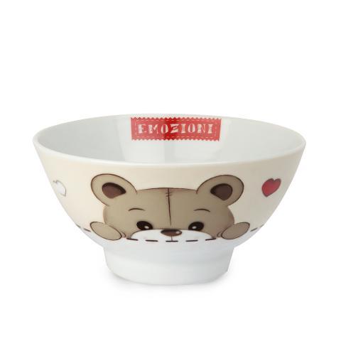 Tazza bowl in porcellana decorata Egan IL MONDO DI OLIVER