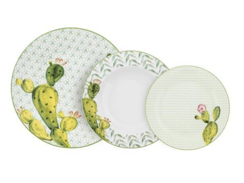 Servizio 18pz piatti in porcellana decorata  Villa Altachiara  GALAPAGOS