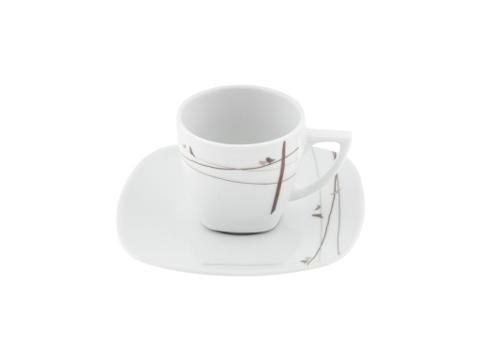 Servizio 6pz caffè in porcellana decorata  Villa Altachiara  BIRD TORTORA