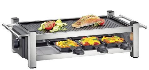 Raclette con piastra in griglia antiaderente e acciaio  Kuchenprofi TASTE 8