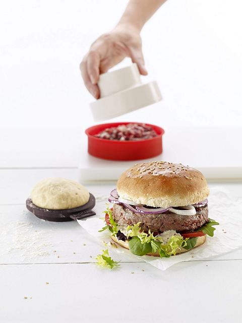 Set forma hamburgher e stampi panini 9pz in silicone  Lekuè BURGER E BREAD