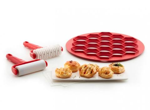 Set 3pz tagliasfoglie in materiale plastico  Lekuè FINGERFOOD