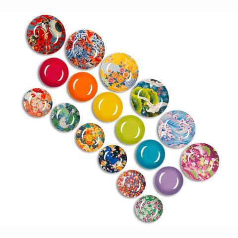 Servizio 18pz piatti in porcellana decorata  Excelsa KIMONO