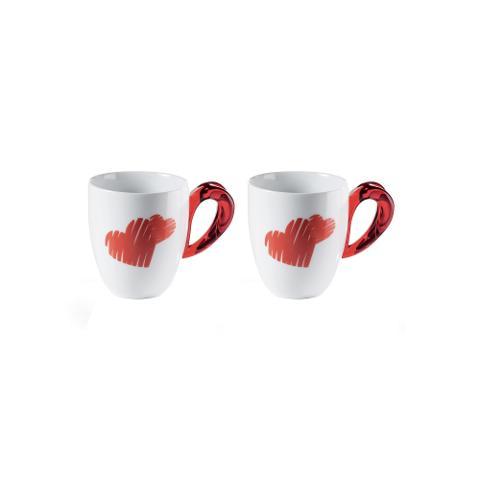 Set 2 tazze mug  Guzzini LOVE