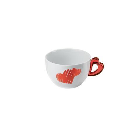 Tazza colazione in porcellana decorata Guzzini LOVE