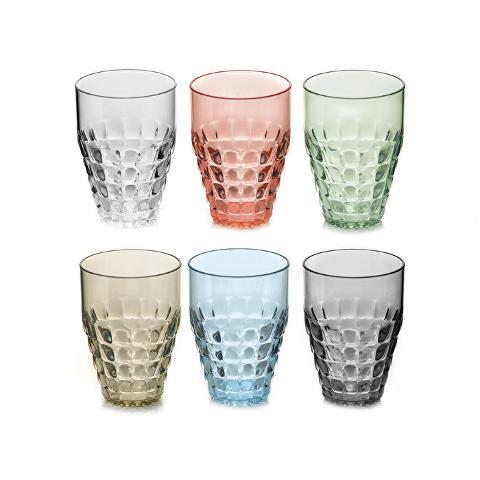 Set 6 bicchieri in metilmetacrilato  Guzzini  TIFFANY