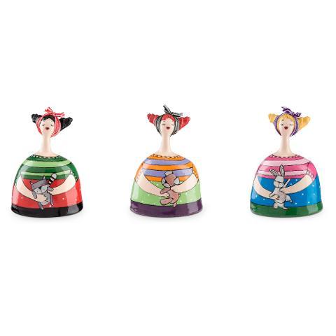 Salvadanaio medio in ceramica decorata a mano decoro peluche Egan LE PUPAZZE
