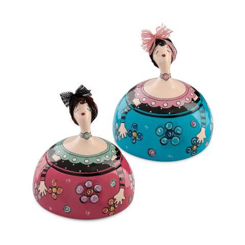 Portagioie in ceramica decorata a mano  Egan LE PUPAZZE