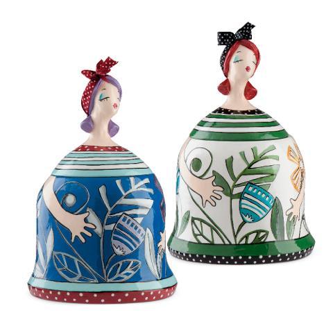 Portadelizie in ceramica decorata a mano Egan LE PUPAZZE