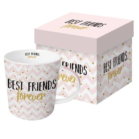 Tazza Mug in porcellana New Bone China decorata ppd BEST FRIENDS FOREVER