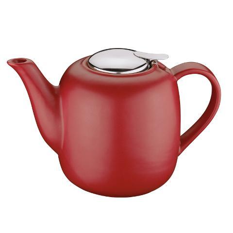 Teiera in ceramica colorata con infusore acciaio inox lt 1,5 Kuchenprofi  LONDON