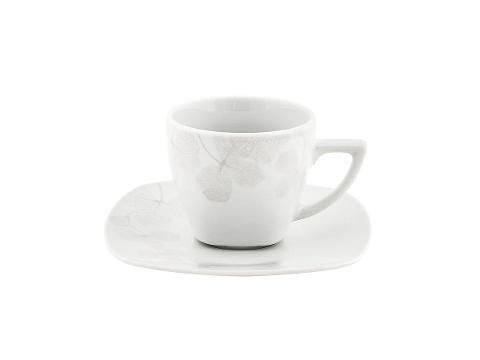 Set 6 tazze caffè con piattino in porcellana decorata  Villa Altachiara AMBRA GRIGIA
