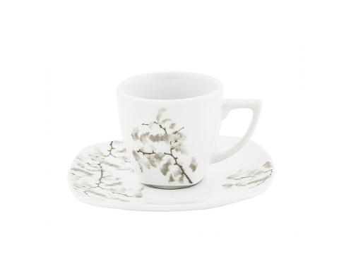 Set 6 tazze caffè con piattino in porcellana decorata  Villa Altachiara CANFORA