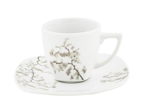 Set 4 tazze da thè con piattino in porcellana Villa Altachiara CANFORA
