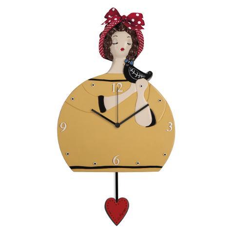 Orologio in ceramica decorata con pendolo Egan LE PUPAZZE